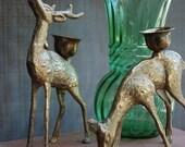 Brass Reindeer - Candlestick Holders