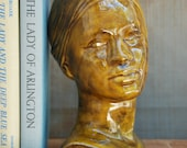 RESERVED////////////////////////Bust of Woman - Vintage Ceramic 1968