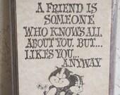 Vintage 70s Skunks Novelty Friendship Plaque