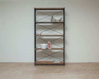 Reclaimed Home Library - Bookcase - Bakers Rack -Sustainable 5 Tier Rack
