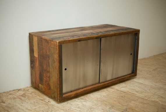 Reclaimed Wood and Cold Rolled Steel 'Gray's Peak' Credenza