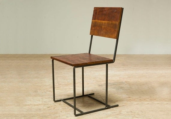 Reclaimed Douglas Fir and Recycled Iron Steel 'Mt Whitney' Chair