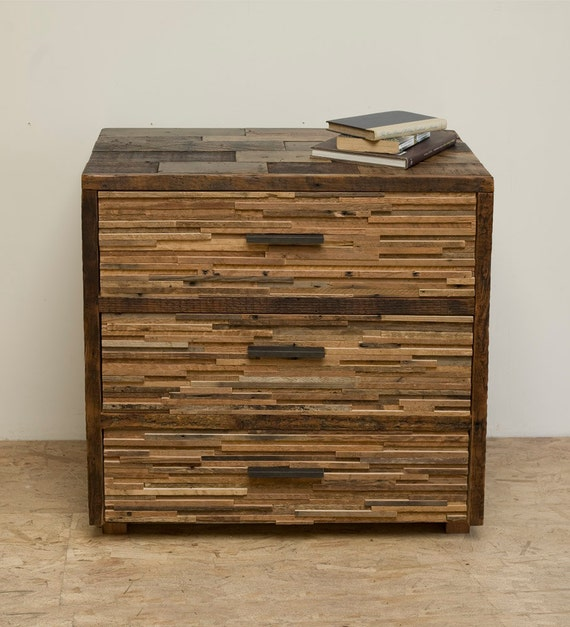 Reclaimed Wood 'Lake Tahoe' Three Drawer Chest