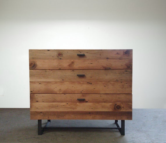 Beautifully Modern Reclaimed Old Growth Dresser- Custom Size