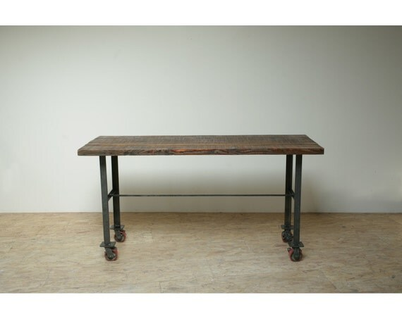 Refined and Elegant, Reclaimed 'Outer Banks' Kitchen Island. Made with Historic Timbers