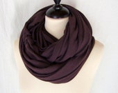jersey shawl neck warmer purple