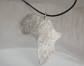 Africa Necklace  Adoption pendant African pendant Africa pendant sterling silver
