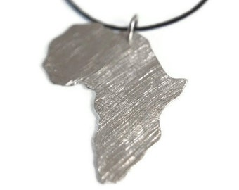Africa Pendant Africa Necklace Heart Africa Pendant Adoption Sterling Silver 925 Necklace Ciondolo Africa Heart Necklace 333