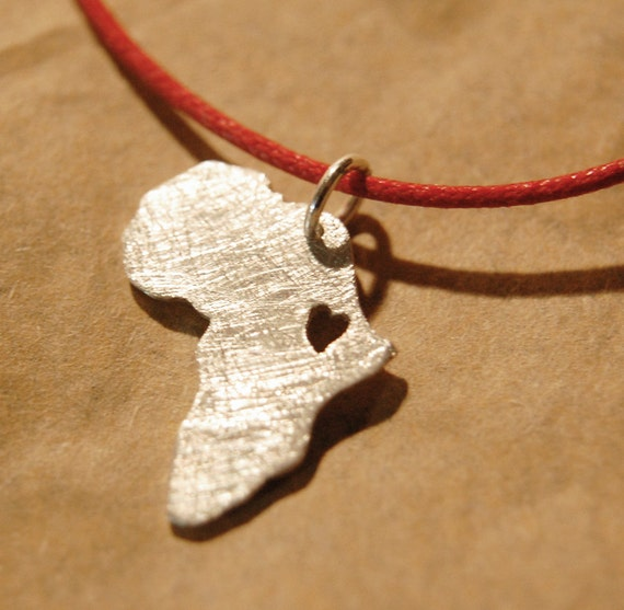 Africa Necklace Adoption Jewelry Map Necklace Ethiopia