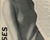 Vogue Knitting 1966 Crochet Trimmed Two Piece Knit Dress Vintage Pattern Retro Mod Mad Men