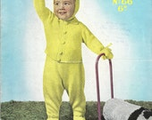 Sirdar Sunshine 66 Vintage PDF Knitting Pattern Toddler Suit with Leggings, Cardigan, Mittens and Bonnet