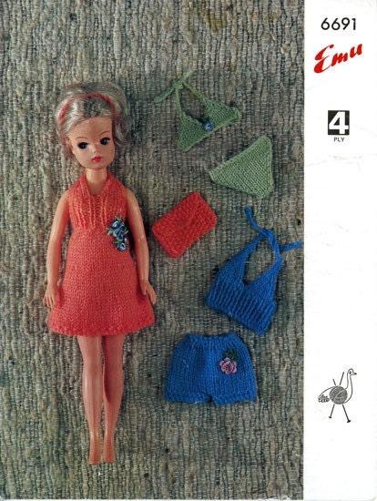 Emu 6691 Vintage Sindy Doll Knitting by vintagemadamedefarge
