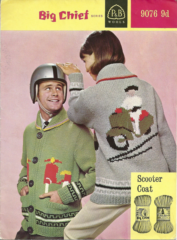Vintage Christmas Jumper Knitting Pattern : P&B 9076 Vintage Knitting Pattern Vespa by vintagemadamedefarge