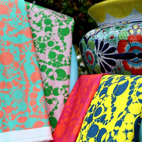 Fabric per yard in Sand Jamboree Pattern