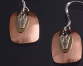Handmade Copper, Sterling Silver and Gold Filled Earrings