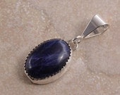 Sodalite and Sterling Silver Pendant