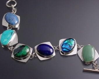 Handmade Sterling Silver Mountainaire Link Bracelet