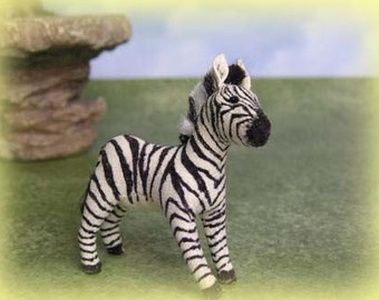 Zebra Soft Sculpture Miniature by Marie W. Evans
