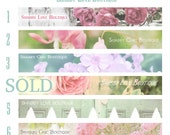 Shabby Chic Love Boutique, Custom Premade Etsy Shop Banner, Personalize, You Choose the Font, This Way Up Graphics