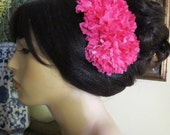 Fuschia Flamenco Carnations hair comb