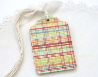 Plaid Gift Tags Multi Colored Labels All Occasion Gift Tags