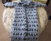 Crocheted Baby Boy Sleeper Sleep Blanket