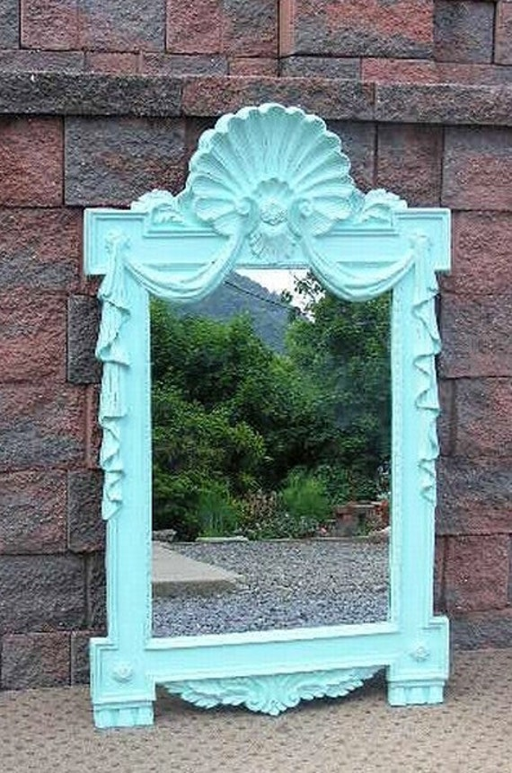 Shabby Oceanside Cottage Chic Wall Pier MANTEL MIRROR