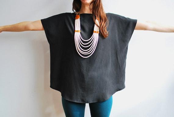 Charcoal Zipper Top