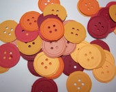 Button, Button - 50 embossed buttons, cardstock, scrapbooks, journals, cards, tags, table decor, you pick color - crazyadsteam