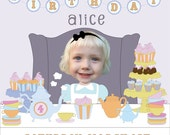 Tea Party Birthday Invitation - Printable and Personalized