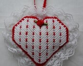 Scented Heart Sachet in Plastic Canvas