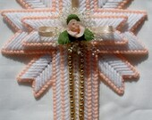 Peach Cross Magnet