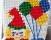 Clown with Balloons Tissue Box Cover