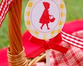 Red Riding Hood Birthday Party Collection- Printable Set by Fara Party Design