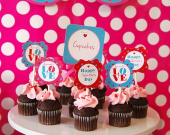 Printable- All you need is LOVE Valentine's Party Collection by Fara Party Design