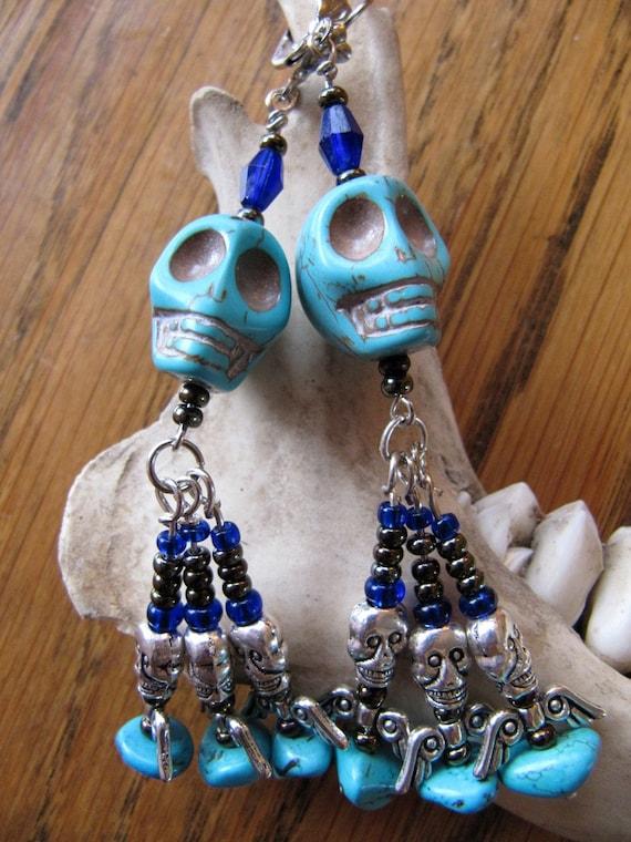 Wild Child Skull Earrings