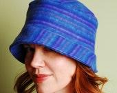 polar fleece winter hat- SHERLOCK-Brilliant Blueberry- M/L