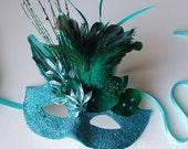 Luminous Verdigris- Fairy Halloween or masquerade mask