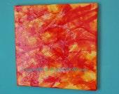 mixed media painting- ZEPHER-  ORIGINAL- OOAK- 12x12