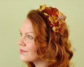 Headband -Autumnal Blossoms-headpiece, fascinator, bridal, wedding