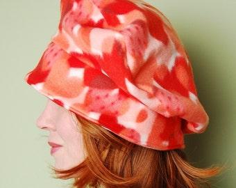 polar fleece winter hat- JOJO- Heartbreaker- VALENTINE