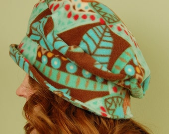 polar fleece winter hat- FLOPSY- Tribal Beat-