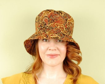 cotton hat- BELLA- Marigold Paisley- size M