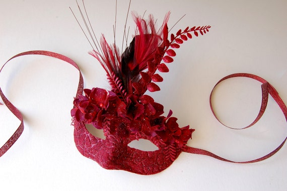 Cranberry Compote- fairy, Mardi Gras, Venetian, masquerade mask