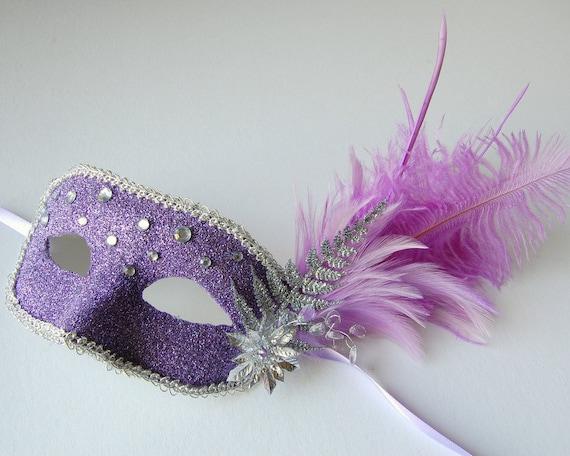 MASK- Silver Lilac- Halloween,fairy, Mardi Gras, Venetian, masquerade mask