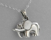 Sterling Silver Elephant Pendant with Sterling Silver Chain