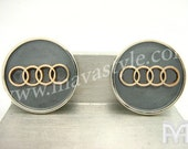 Sterling Silver & Gold Audi Sign Cufflinks