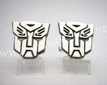 Sterling Silver Autobot Transformers Cufflinks