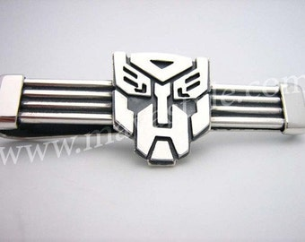 925 Sterling Silver Transformers Tie Tac Tack Clip Bar