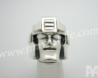 Sterling Silver Prowl Autobot Transformers Ring Gen 1